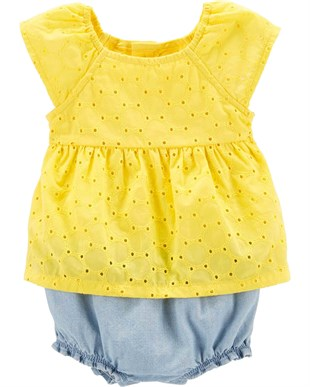 Carters Kız Bebek Romper Tulum - Summer Collection