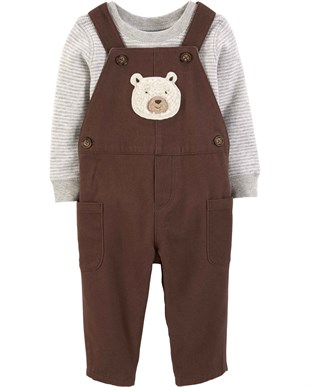 Carters Erkek Bebek 2li Set - Ivory Little Collection