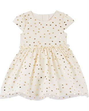 Carters Kız Bebek Elbise - Ivory Little Collection